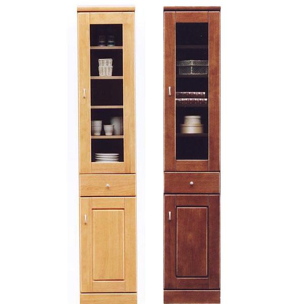 食器棚 スリム型 幅35cm ガラス扉 板扉 隙間収納 キッチン すきま収納 国産 キッチン収納
