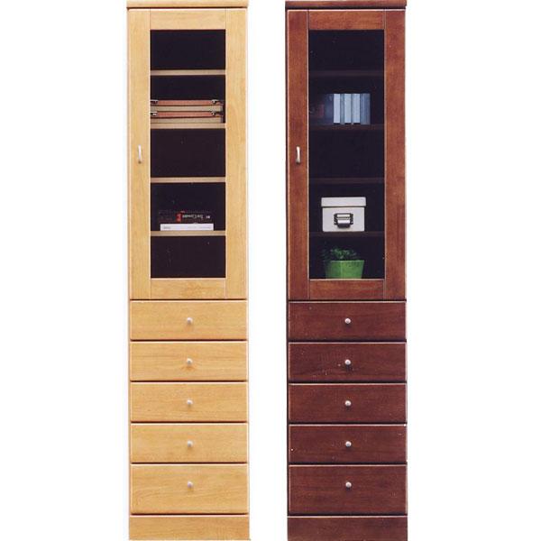 食器棚 スリム型 幅40cm ガラス扉 引出しタイプ 隙間収納 キッチン すきま収納 国産 キッチン収納