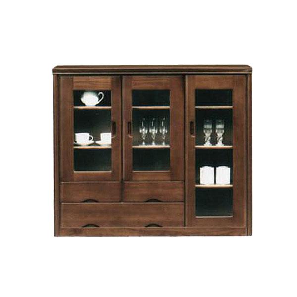 サイドボード リビング収納 収納家具 幅120cm 木製 収納棚 整理棚 ブラウン