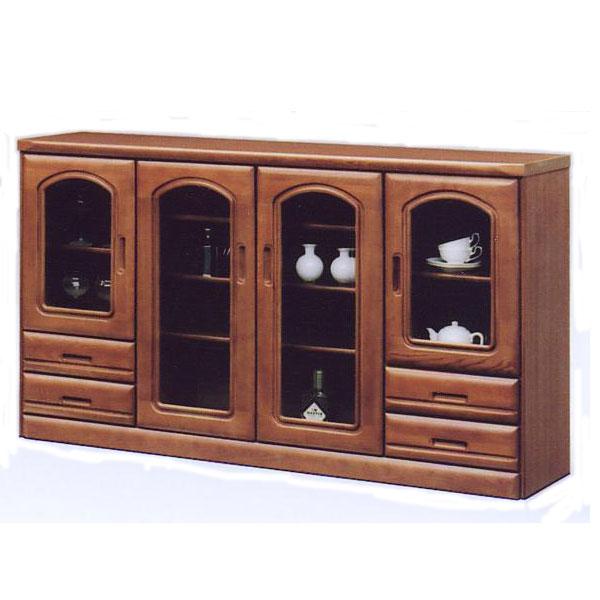 サイドボード リビング収納 収納家具 幅159cm 木製 収納棚 整理棚 ブラウン