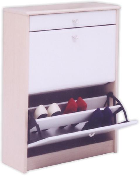 シューズBOX 薄型 シューズボックス 幅64cm 2段 スリム コンパクト 大容量 靴箱 下駄箱