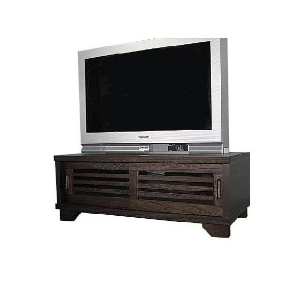 ローボード テレビ台 テレビボード ロータイプ TVボード 和風 和室 幅90cm ブラウン 送料無料