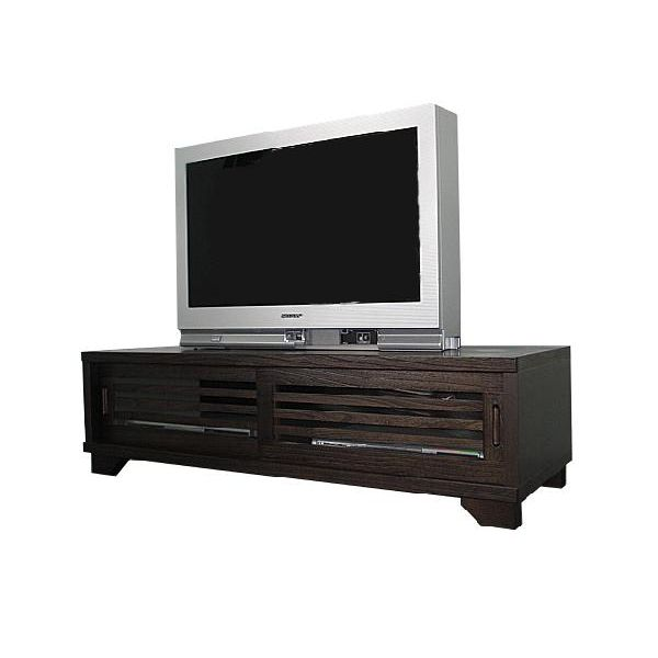 ローボード テレビ台 テレビボード ロータイプ TVボード 和風 和室 幅120cm ブラウン 送料無料