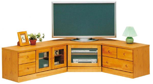 コーナー3点セット テレビボード ナチュラル コーナーTVボード テレビ台 AV収納