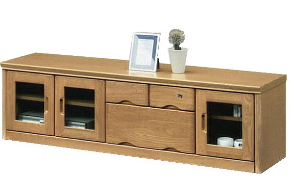 テレビボード テレビ台 鍵付き ローボード 幅150cm ロータイプ 木製 ナチュラル