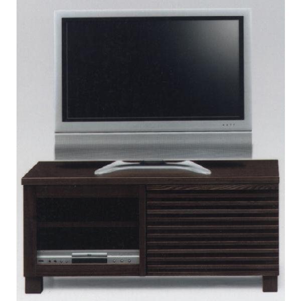 テレビ台 テレビボード 幅100cm キャビネット 開き戸 ブラウン TVボード AV収納 ロータイプ