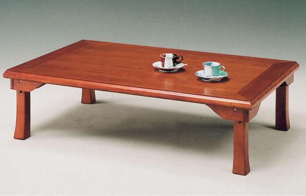 座卓 幅120cm ローテーブル 折り脚 和風テーブル ちゃぶ台 ブラウン 和モダン オークツキ板