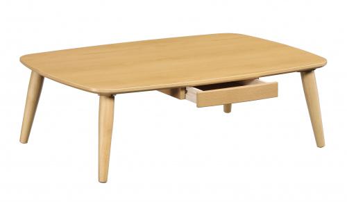 【スーパーSALE限定10%OFF】引出し付きテーブル 小物入れ リビングテーブル 収納付きテーブル ナチュラル 幅120cm 座卓