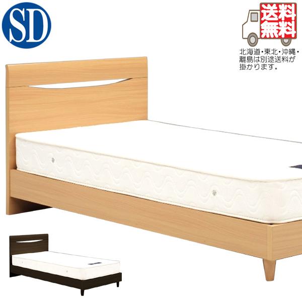 ベッド セミダブルベッド ロータイプ ベッドフレーム 北欧モダン