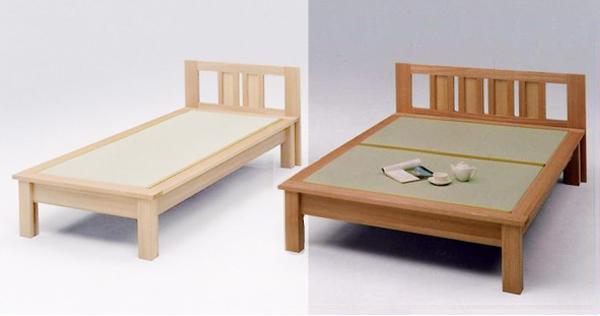 畳ベッド セミダブルベッド 木製 魁ヘッドボード付き セミダブル畳ベッド ナチュラル
