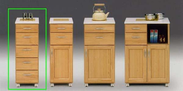 キッチン収納 隙間 すき間収納家具 薄型 幅30cm キッチン 食器棚 30キッチンワゴン(引き出し) ライト イエローパンプキン