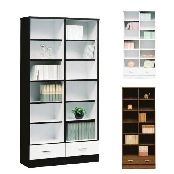 本棚 書棚 完成品 幅90 キャビネット 飾り棚 ブックシェルフ 木製 北欧 モダン【開梱設置無料】