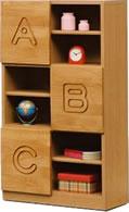 子供用家具/キッズ家具/日本製/低ホルムアルデヒド 木製 ABC シェルフボード60