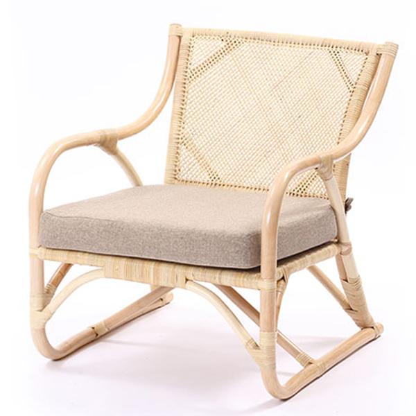ラタンチェア 籐チェア アジアンチェア 完成品 椅子 パーソナル 一人掛け ダイニングチェア 高座椅子 木製 籐椅子 籐家具