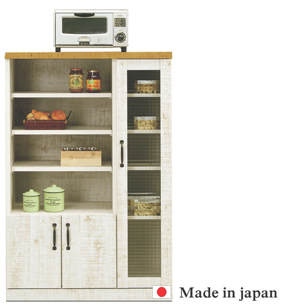 レンジ台 レンジボード 幅80cm キッチン収納 完成品 日本製 送料無料