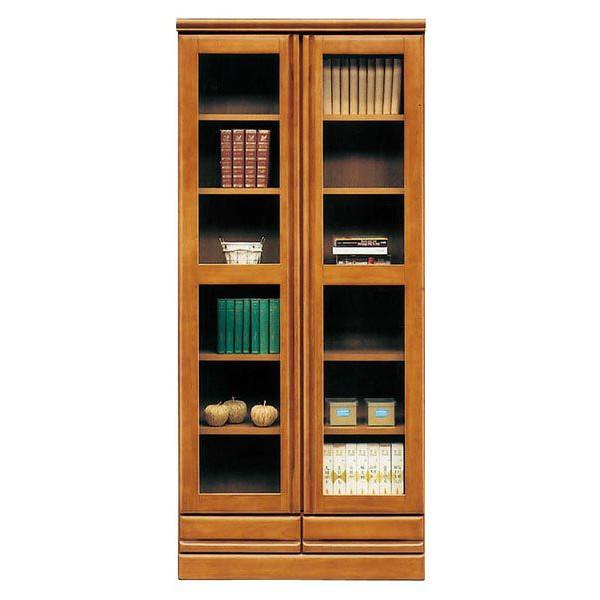 本棚 完成品 書棚 幅80cm (開梱設置無料)