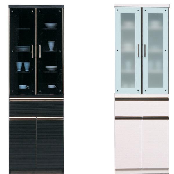 食器棚 キッチン収納家具 ダイニングボード キッチンボード 家電収納 木製 60 コンセント付き 選べる2色 ホワイト ブラック おしゃれ お洒落 完成品