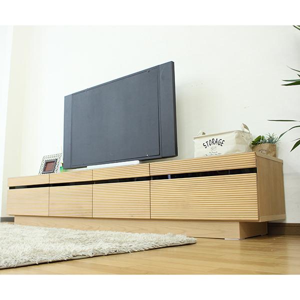 テレビ台 ローボード テレビボード 幅210cm 高さ40cm 選べる2色 オーク ウォールナット アルダー無垢材使用 木製 リビング収納 北欧風 シンプルモダンでおしゃれなデザイン 完成品