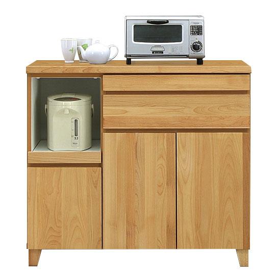 キッチンカウンター レンジ台 レンジボード 幅100cm 完成品 木製 キッチン収納 北欧 モダン 国産 大川家具 送料無料