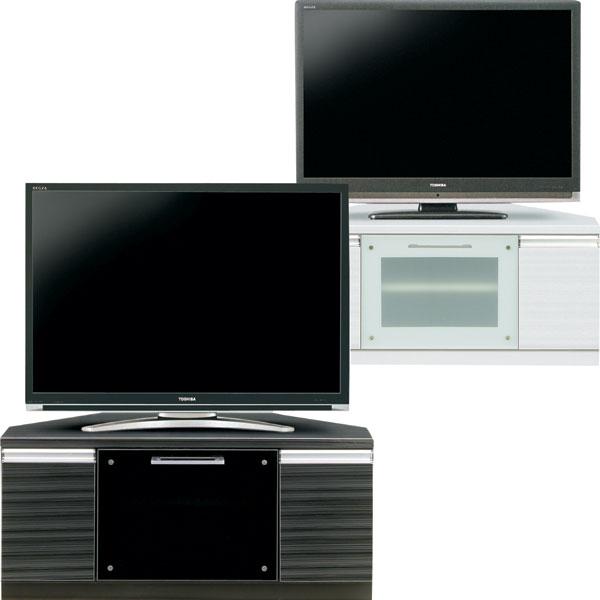 テレビ台 コーナーテレビ 選べる ブラック ホワイト 幅100cm テレビボード TV台 TVボード