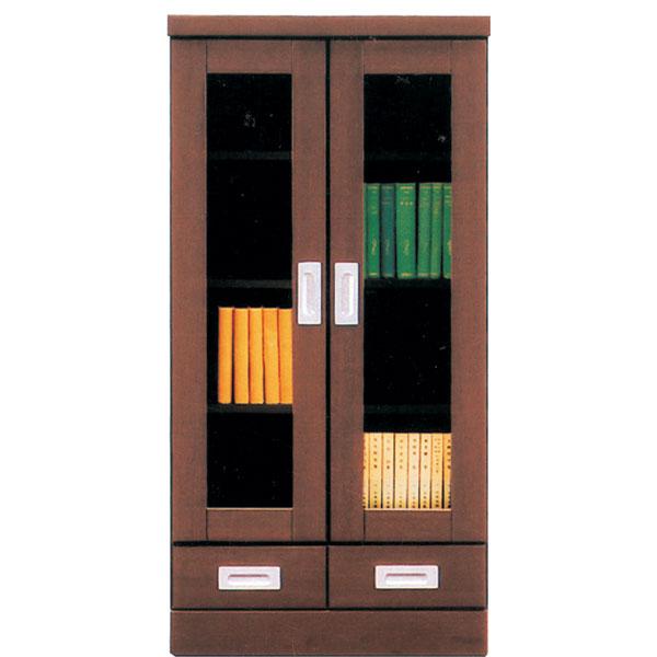 本棚 書棚 キャビネット 飾り棚 ブックシェルフ 木製 幅60cm フリーボード 送料無料