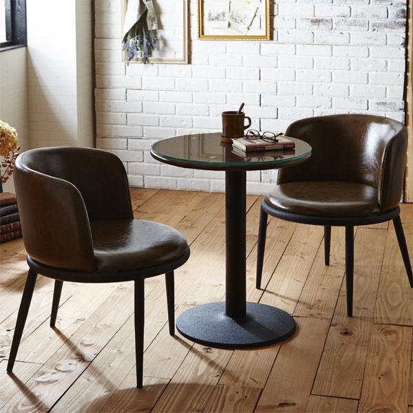 丸テーブル 円形 カフェテーブルセット ダイニングテーブルセット ダイニング3点セット ダイニングセット 2人用 2人掛け バイキャスト ファブリック スチール シンプル モダン 北欧 ベーシック カジュアル 選べる3色 ブラウン グリーン マルチブルー カフェ