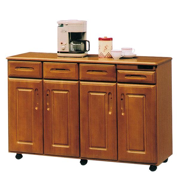 キッチンカウンター キッチンボード レンジ台 レンジボード 幅120cm 完成品 キッチン収納 木製 北欧 モダン 国産 大川家具 送料無料
