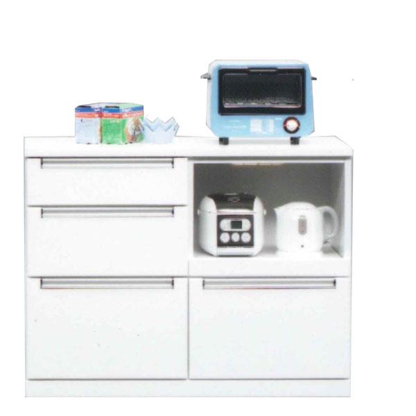 キッチンカウンター レンジボード レンジ台 完成品 幅105cm