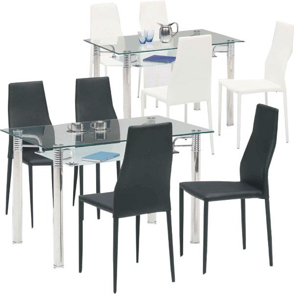 ダイニングセット 5点セット ダイニング5点セット 4人用 4人掛け ガラス ダイニングテーブルセット 幅120cm シンプル モダン 食卓セット 食卓テーブル ダイニング セット