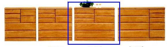 ローチェスト アウトレット 和たんす タンス 整理ダンス 木製 ベストII 120ローチェスト ライトブラウン ダークブラウン