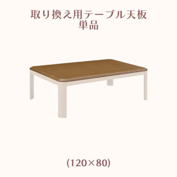 こたつ コタツ こたつ天板 天板のみ 取替え用 天板単体 幅120cm 長方形 炬燵 四角型 天板厚み2.7cm 木製 ブラウン色 ロータイプ ハイタイプ