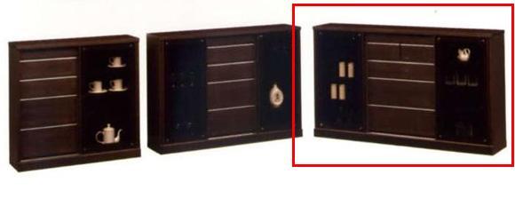 キャビネット/サイドボード/ディスプレイラック/壁面家具/木製 シアター 150 サイドボードD-40