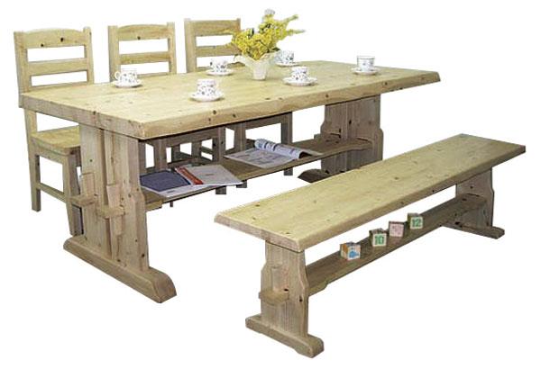 ダイニングテーブルセット ダイニングセット 5点セット 北欧 カントリー 6人用 ダイニングテーブルセット 幅180cm 食卓テーブル ベンチ 【送料無料】