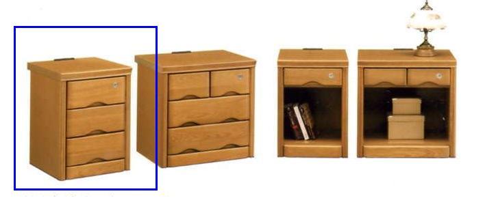 ベッド ナイトテーブル 木製 バジル36-3ナイトチェスト ナチュラル/ブラウン