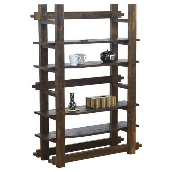 飾り棚 シェルフ 本棚 レトロ モダン 木製 幅100cm