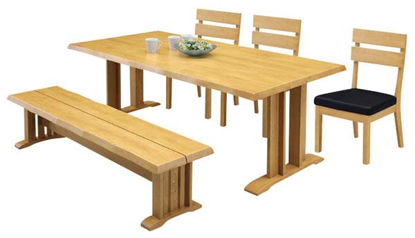 ダイニングテーブルセット ダイニングセット 5点セット 北欧 モダン 6人用 ダイニングテーブルセット 幅180cm 食卓テーブル ベンチ 【送料無料】