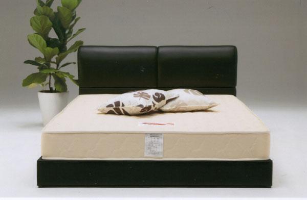 ダブルベッド フレームのみ フロアベッド ローベッド PVC 合成皮革 ブラック シンプル モダン ロータイプ 北欧 幅145cm 送料無料