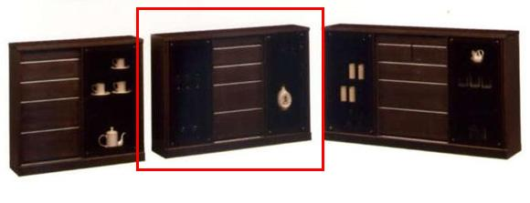 キャビネット/サイドボード/ディスプレイラック/壁面家具/木製 シアター 120 サイドボードD-30