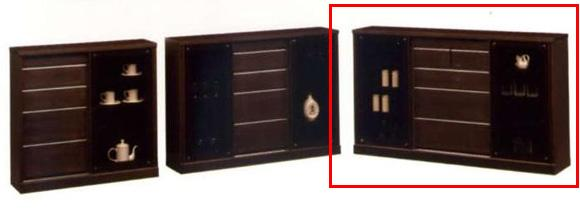 キャビネット/サイドボード/ディスプレイラック/壁面家具/木製 シアター 150 サイドボードD-30