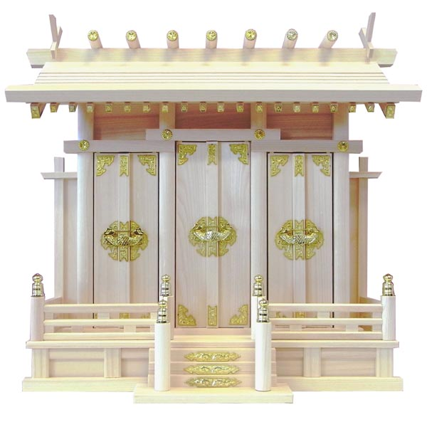 神棚/通し屋根三社/特大
