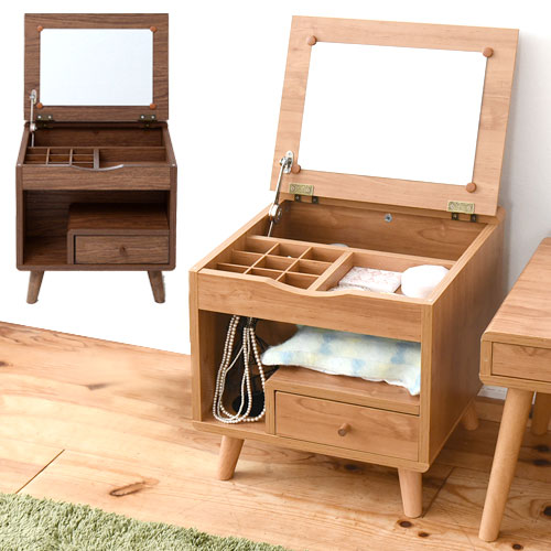 ドレッサー 幅45 メイク ドレッサー 収納 メイク台 鏡台 化粧台 コンパクト 可愛い ミニ 北欧家具