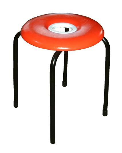 Hole Difference Maru Chair Stool Pipe Chair Red Circle Chair Circle Chair  Doughnut Chair Pipe Chair Made In Doughnut Chair (red) Ten Set Japan