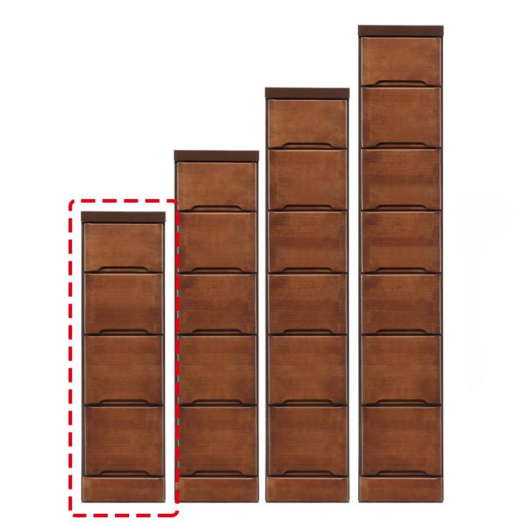 【完成品 日本製 送料無料】 隙間収納 わずかなすき間を有効活用 すきま収納 ペティット 幅25 奥行40 高さ84.5 ブラウン リビング収納 キッチン収納