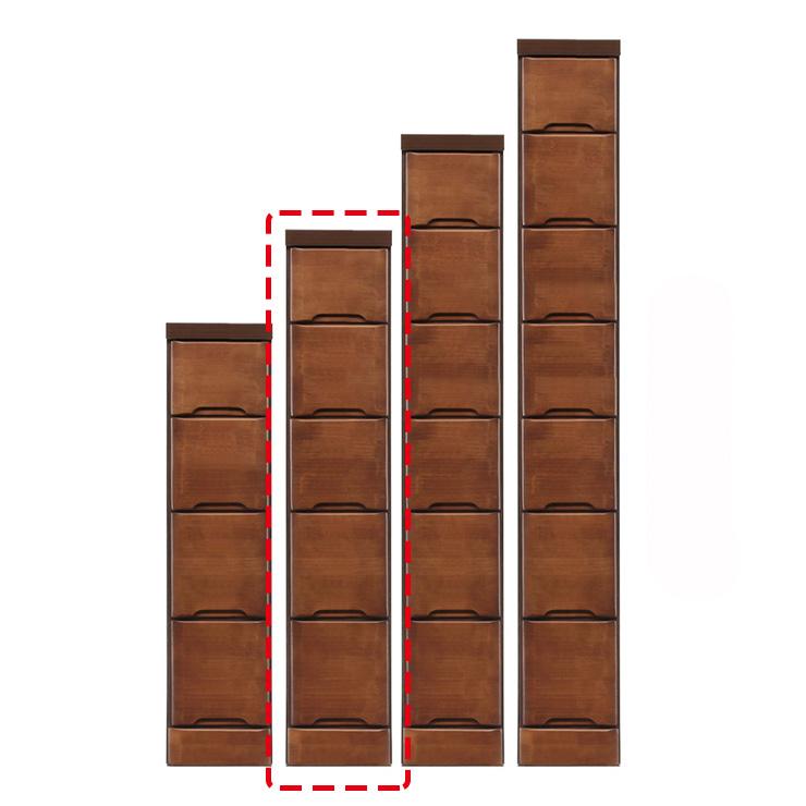 【完成品 日本製 送料無料】 隙間収納 わずかなすき間を有効活用 すきま収納 ペティット 幅20 奥行40 高さ102.5 ブラウン リビング収納 キッチン収納