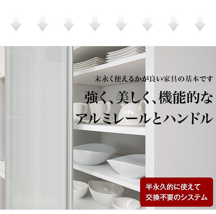 サイズと色が選べるセミオーダー食器棚 レンジボード(1枚戸) ビアンコ 幅120 奥行40/45/50/55/60 高さ160/170/180/190/200 ホワイト/ブラウン/ナチュラル