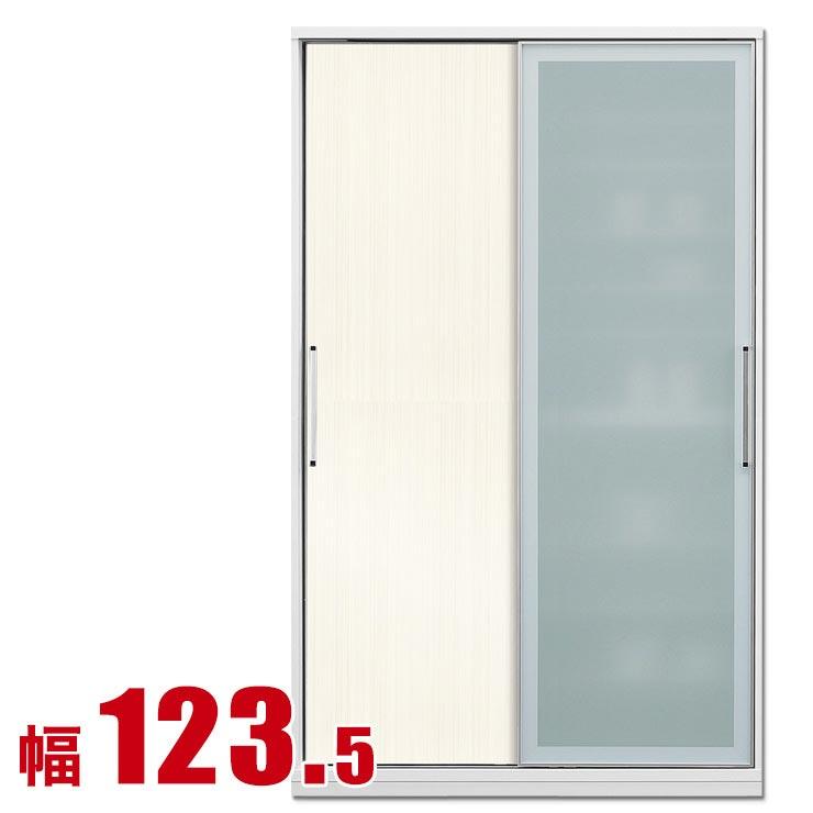 食器棚 収納 引き戸 スライド 完成品 124 ダイニングボード 木目ホワイト 時代を牽引する最新鋭のシステム キッチン収納 アクシス 幅123.5 完成品 日本製 送料無料