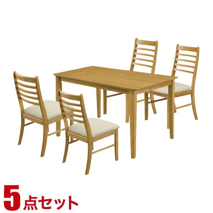 ダイニングテーブルセット 4人掛け シンプル リーズナブル ダイニング 5点セット ジャスト ライトブラウン 幅120cmテーブル チェア4脚 完成品 輸入品 送料無料