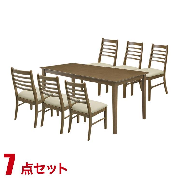 15%OFFクーポン対象+P3倍【送料無料/設置無料】 完成品 輸入品 シンプルでリーズナブルなダイニング7点セット ジャスト ダークブラウン木製 ダイニングチェア ダイニング チェア 椅子 食卓 テーブル 天然木
