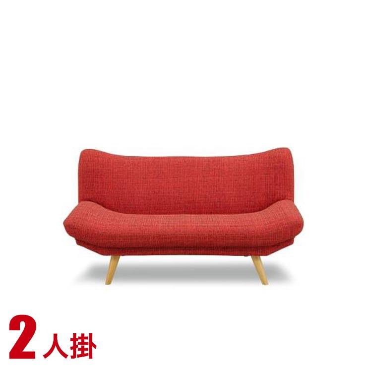15%OFFクーポン対象+P3倍【送料無料/設置無料】 完成品 輸入品 ソファ ララ 2P FAB RED 椅子 いす 座椅子 リビングソファ 応接ソファ ローソファ