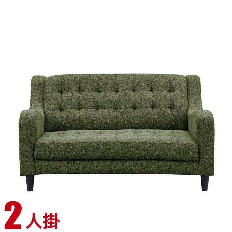 【送料無料/設置無料】 完成品 輸入品 ペイジ 2人掛けソファ 幅122cm オリーブ 2人掛 二人掛 2P 布 ファブリック モダン シンプル 応接ソファ 布 カジュアル 緑 ソファ ソファー 椅子